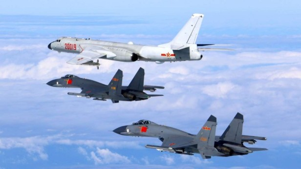 SCO 2015 H-6 Chinese bomber and J-11 jets.jpg