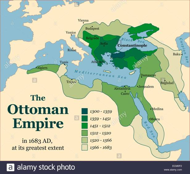 the-ottoman-empire-at-its-greatest-extent-in-1683-ECM0F2.jpg