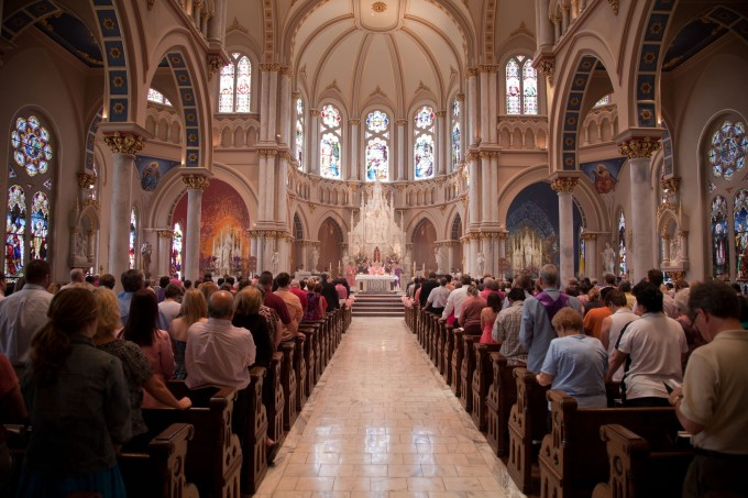Image result for catholic congregation praying in church